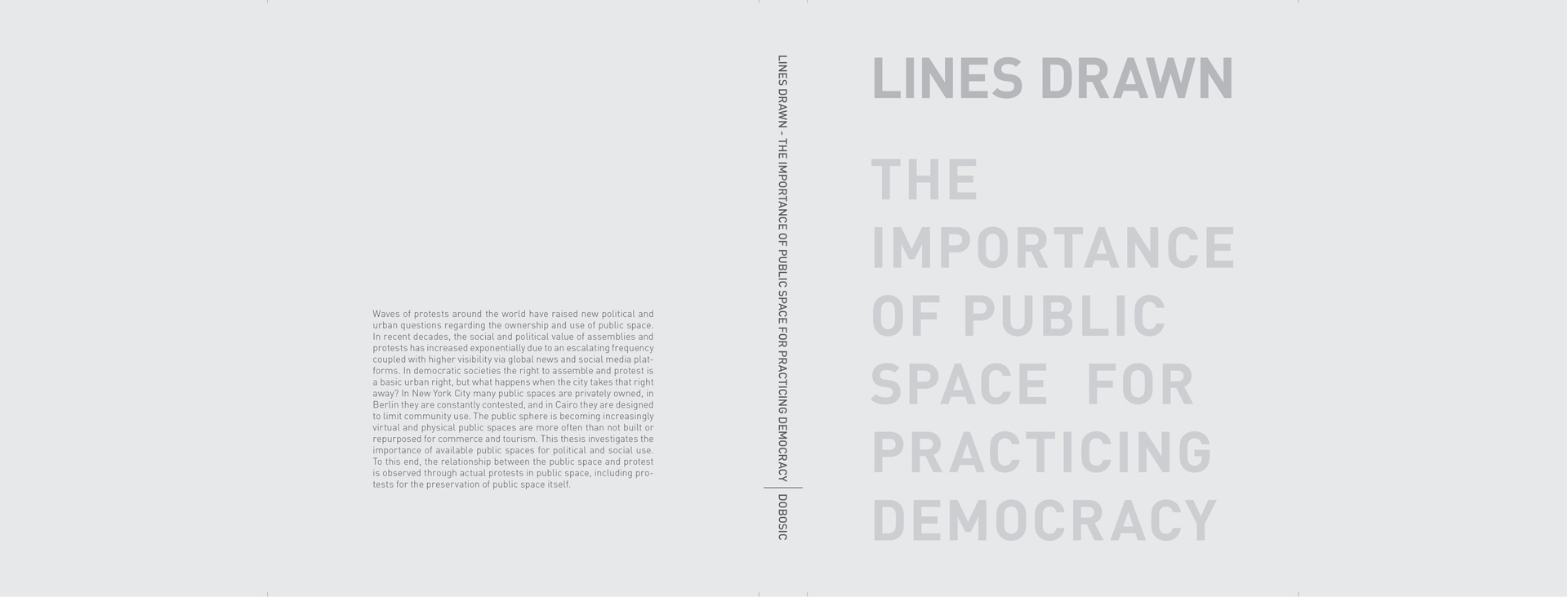 THE IMPORTANCE OF PUBLIC SPACE FOR PRACTICING DEMOCRACY